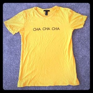 Dark yellow slogan T-shirt